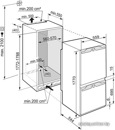 Холодильник либхер: icbn 3366, sn: 9988164-01. Схема.