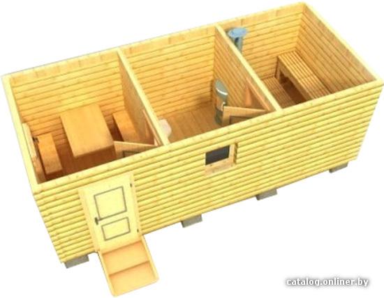 готовые бани из профилированного бруса размером 5м на 4м