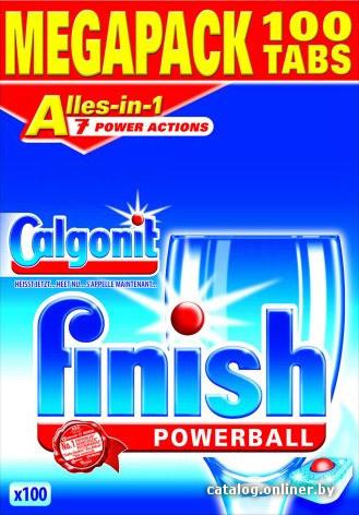 Finish All in 1 Powerball 100 шт. таблетки для посудомоечной машины купить в Минске