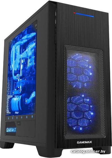 GameMax H603 (голубой LED) корпус купить в Минске